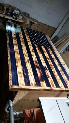 Most In Depth Wood American Flag Build Make Money