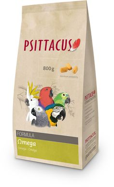 Psittacus Omega Formula Parrot Food This product may be provided exclusively or as a supplement for several psittacine birds of medium and large-sized species.