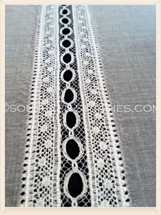 Lace Insertion - Southern Stitches Sewing Tutorials http://southern-stitches.com/sewing-tutorials.php