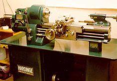 "A restored 1940s Hardinge TL 5C 9"" split bed toolroom lathe."