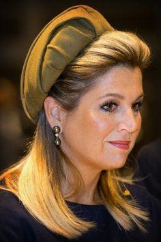 Queen Máxima, October 31, 2014 in Fabienne Delvigne | Royal Hats cultuur l erfgoed l Duits lijntje l workshops l theater l www.desteenakker.nl