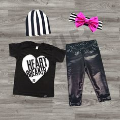 Baby Girl or Boy Clothes, Valentine's Day Outfit, Punk Baby Clothes, Unisex Baby Clothes, Baby Outfit, Hipster Baby Clothes, Heartbreaker