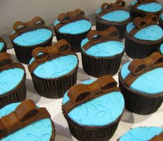 Tiffany blue and chocolate ribbons
