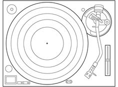 drawing of technics SL-1200 - Google Search