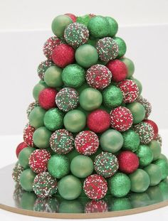 stacked cake pop tree