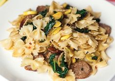 Sausage, Kale and Zucchini Bow Ties
