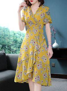 2704a0af7791 Shop Street Chiffon Floral Print A Line Dress at EZPOPSY. Discover fashion  online. Hijab
