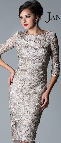 Janique Couture #cocktail #dress #lace