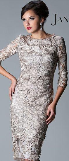 Janique Couture #cocktail #dress #lace