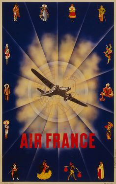 Air France Flight Poster