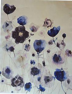 Lourdes Sanchez (Watercolor), Blue Anemone 1 2015, water color on paper