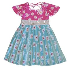 TwirlyGirl - Pinwheel Dress Girls Garden Party Dress Pretty Ribbons | Shimmering Mint Daisy, $72.00 (http://www.twirlygirlshop.com/girls-garden-party-dress/)