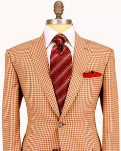 Brioni Rust and Taupe Plaid Sportcoat Apparel Men's Mens Attire, Mens Suits, Suit Shoes, Elegant Man, Suit And Tie, Well Dressed Men, Gentleman Style, Men's Fashion, Stylish Men