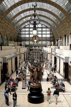 Orsay Museum ~ a museum for impressionist art ~ Paris, France.  Photo: Vainsaing via Flickr
