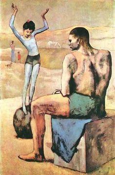 1905 Chica en la bola. Expresionismo. Simbolismo. Período rosa