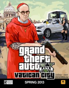 Ha, I think a pope's robe or something would be an EPIC addition to GTA 5