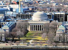MIT - Massachusetts Institue of Technology from Prudential Tower - Boston, Massachusetts