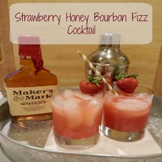 This delightful strawberry cocktail is perfect for spring.