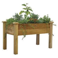 "Gronomics Rustic Elevated Garden Bed.  Dimensions: 30.0 "" H x 48.0 "" W x 24.0 "" D Weight: 55.0 Lb. Warranty Description: 5 Year Limited Warranty"