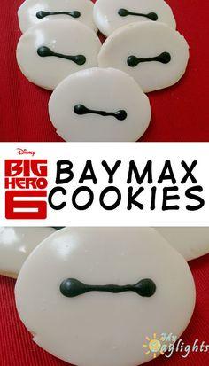 Baymax Cookies from Big Hero 6
