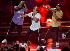 Bruno Mars, Xscape and Big Sean were among the performers at the 2017 BET Awards, hosted by Leslie Jones, at the… – @UPI Photo Gallery