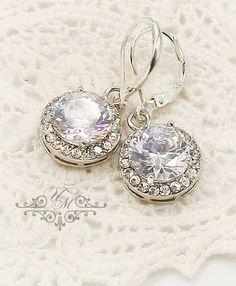 Wedding Earrings / AAA Zirconia round earrings / Earring Length : 3cm Earring Weight : 3g each Zirconia Pendant size : 14mm 100% Brand New / https://www.etsy.com/listing/208955241/10-off-wedding-jewelry-wedding-earrings?ref=shop_home_active_23