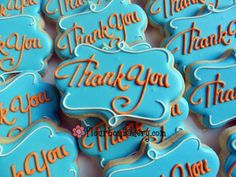 Thank you cookies. Just change colours. Thank You Cookies, Fancy Cookies, Iced Cookies, Cute Cookies, Cupcake Cookies, Sugar Cookies, Cupcakes, Frosted Cookies, Baking Cookies