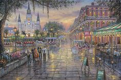Thomas Kinkade Union Square San Francisco | Jackson Square, New Orleans by Robert Finale