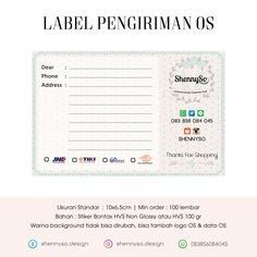 Logo Online Shop, Shipping Label, Minimalist Wallpaper, Thrift, Stickers, Cards, Shopping, Ideas, Design