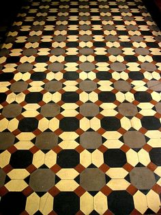The American Museum of Natural History in New York, NY. I loved the pattern and colors of this floor.