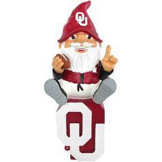 Oklahoma Sooners Gnome Sitting on a Logo