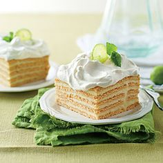 Key Lime Icebox Cake | MyRecipes.com. ☀CQ #southern #recipes