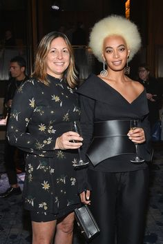 "soph-okonedo: ""Brand President Wendy Kahn and Solange attend the Stuart Weitzman FW18 Presentation and Cocktail Party at The Pool on February 8, 2018 in New York City """