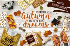 FREE UNTIL OCTOBER 9! :: Watercolor autumn leaves by MiraEl Art on @creativemarket