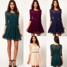2014 Fashion New Women Sexy Lace Dress Summer Evening Party Club Cocktail Dress Casual Mini Dres