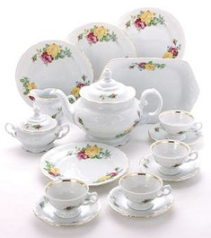 Rose Bouquet Fine China Tea Set for Children.  Best deal for real china tea sets!  I will be ordering the napkins too!