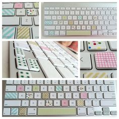 Washi Tape Keyboards. This is great for people who want to learn to type without looking at the keys