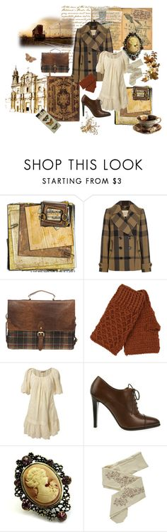 """The Girl with the Cameo"" by svenjadobbert ❤ liked on Polyvore featuring EASTON, Burberry, ASOS, ALDO, Miss Selfridge, Ralph Lauren, Fantasy Jewelry Box and ZOHARA"