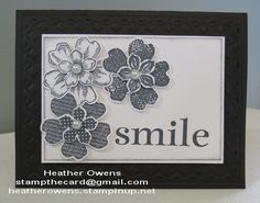 Flower card using Flower Shop, Petite Petals and Happy Day from Stampin' Up!