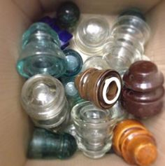 Glass insulators - sure, we've got those! We have them placed around the museum and we also sell different varieties. If you're a crafter, check out our website store or email us.
