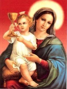 The Virgin Mary and child Jesus Jesus And Mary Pictures, Mary And Jesus, Religious Images, Religious Icons, Religious Art, Blessed Mother Mary, Blessed Virgin Mary, Catholic Art, Catholic Saints