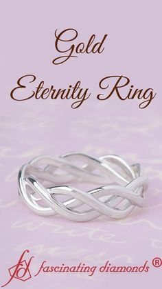The twisted eternity band augments elegance with the white gold band with a glossy texture exceptionally displays a classic braided pattern for a stylish appeal. The metallic sheen of the eternity band has a charming aura for added opulence and flair. Cute Jewelry, Jewelry Rings, Women Jewelry, Jewellery, Wedding Rings For Women, Wedding Bands, Best Diamond, Birthday Nails, Quality Diamonds