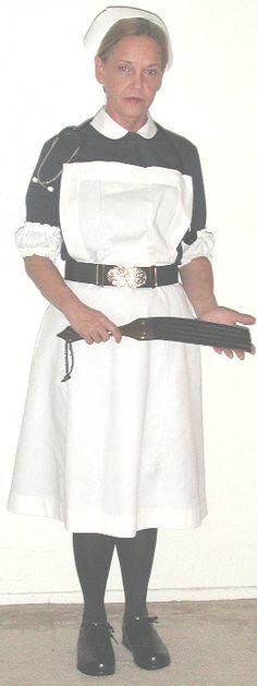 Traditional nurses uniform with white apron over a blue dress Nylons, Blouse Nylon, Weak Men, Female Head, White Caps, Nursing Clothes, Fashion Project, Future Fashion, Christian Women