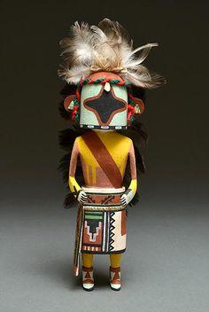 Chasing Star Kachina Doll by Sandra Suhu (Hopi)