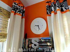drop cloth drapery panels, bedroom ideas, home decor, Drop cloth drapes
