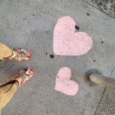 chalk on the floor