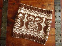 Owl Cowl #knitting