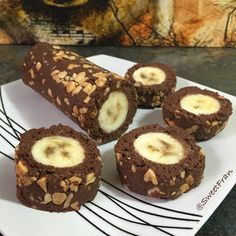 Banana roll, receta crudivegana muy simple y saludable. Paso a paso en www.sweetfran.cl #rawFood