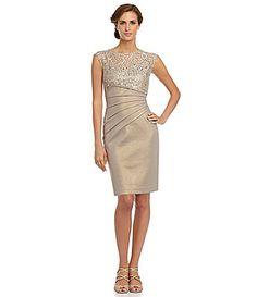 KM Collections IllusionNeckline Dress #Dillards