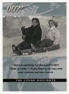 James Bond - The Quotable # 29 - The Living Daylights